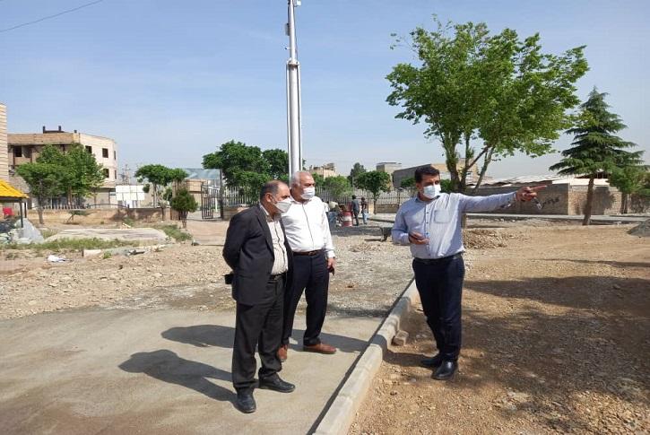 بازدید معاون عمرانی فرمانداری شهریار از روند بازسازی پروژه پارک شهدای سانحه هواپیمای اوکراینی