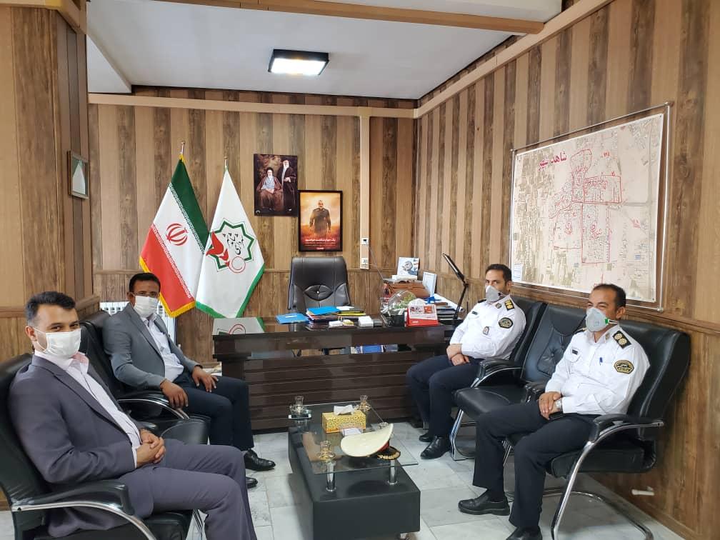 جلسه هماهنگی به منظور راه اندازی ایستگاه پلیس راهنمایی و رانندگی در شاهدشهر