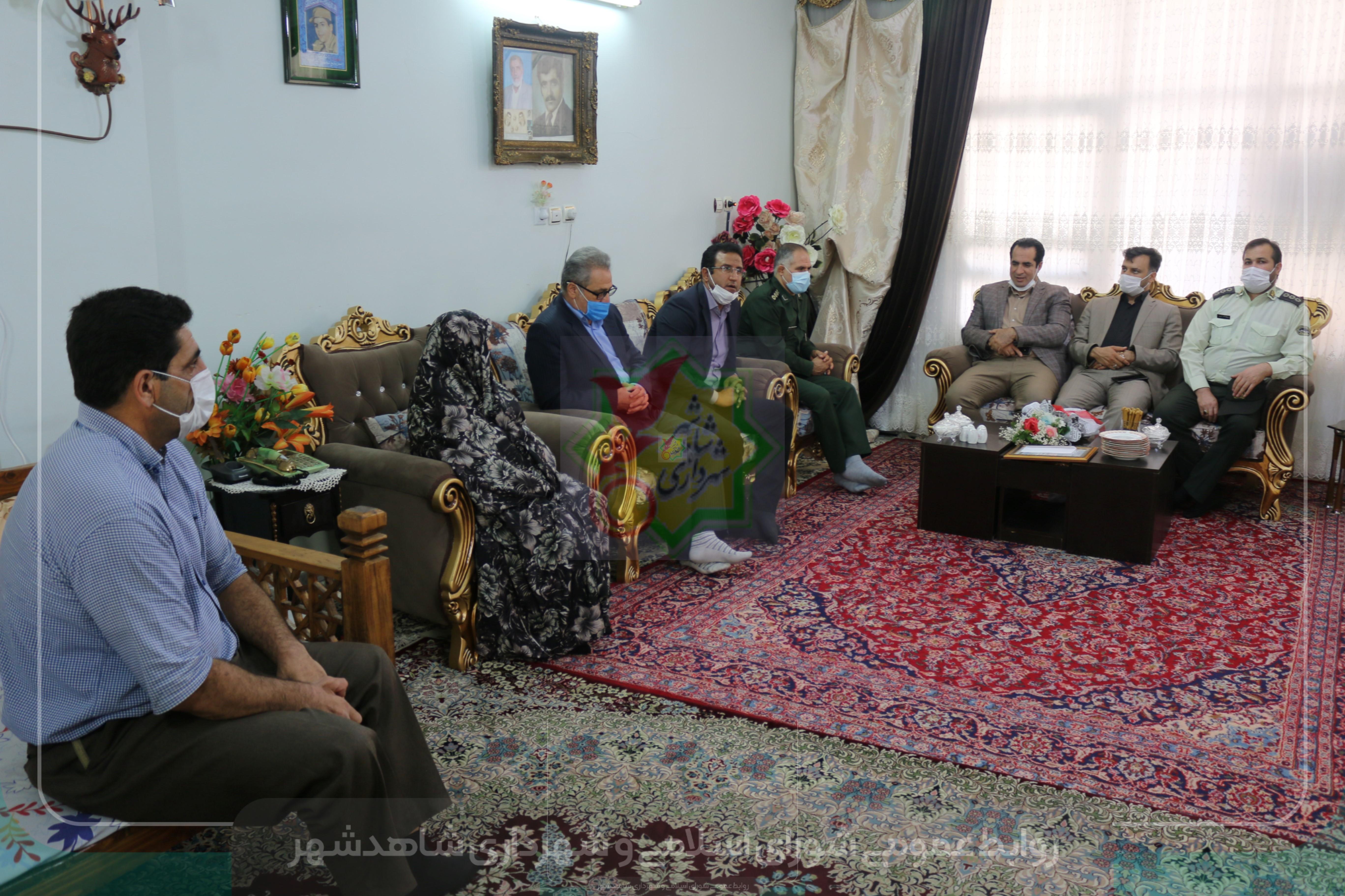دیدار هفتگی مدیران شهری از سه خانواده معظم و معزز شهدای شاهدشهر