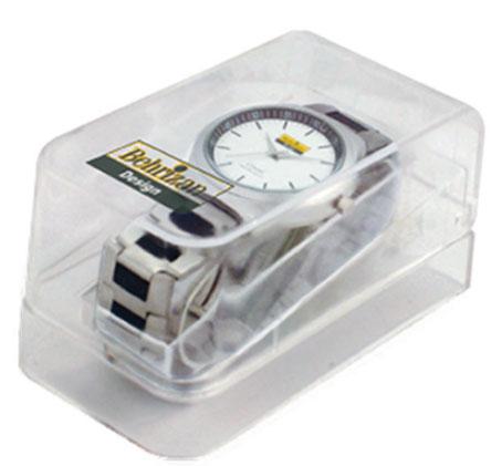 ساعت مچی جعبه طلقی