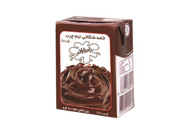 خامه شکلاتی پاستوریزه 200 گرمی
