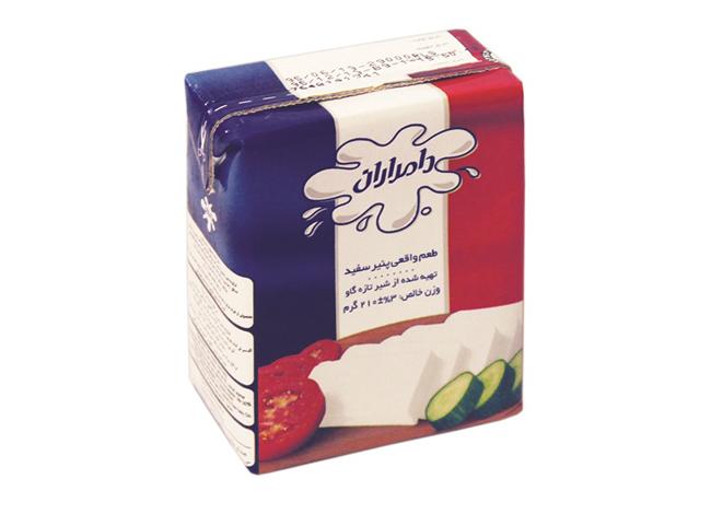 پنیر پاکتی نسبتاً چرب 210 گرمی