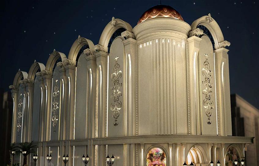 ساخت تالار و طراحی نمای بیرونی