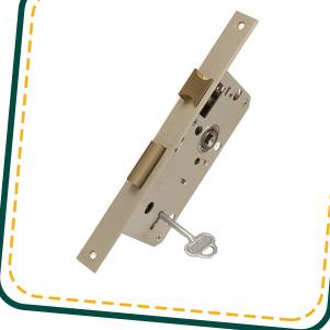 قفل پهن کلیدی 65 میل (میلاک)