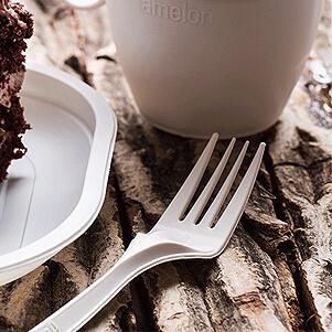 چنگال یکبار مصرف گیاهی (املون)