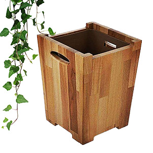 سطل زباله چوبی (بلوط)