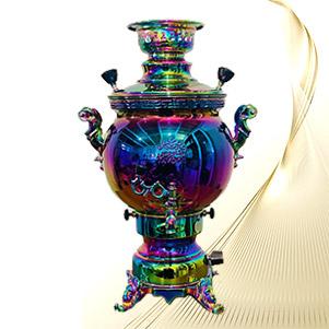 سماور گازی 7 رنگ PVD (طاووس)
