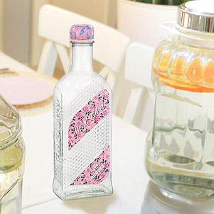 بطری آب شیشه ای (نیلوفر)