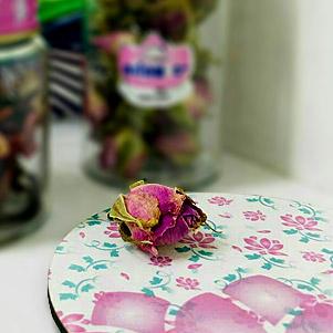 زیر لیوانی گلدار (نیلوفر)