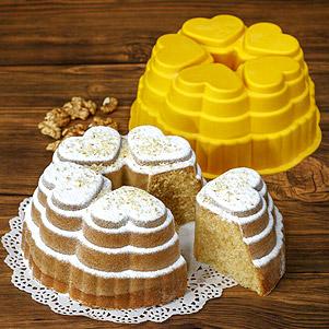 قالب کیک و ژله سیلیکونی (نیلوفر)