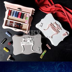 جعبه نخ و سوزن چوبی (سون اسکای)