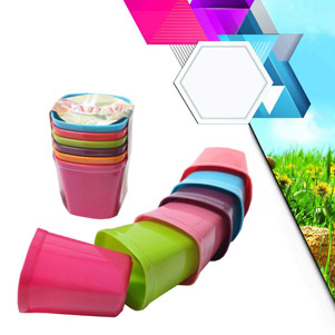 لیوان پلاستیکی 6 عددی (صدف)