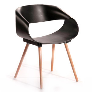 صندلی پایه چوبی مدرن (نگین)