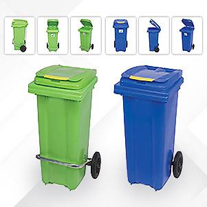 سطل زباله پلی اتیلن (طوس فدک)