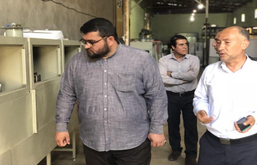 حضور نماینده مردم شریف ارومیه حاج آقا روح الله حضرت پور در شرکت توسعه ایمن الکترونیک