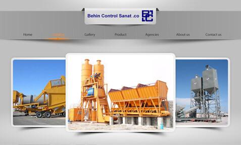 طراحی سایت شرکت بهین کنترل صنعت