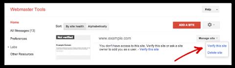 تائید سایت خود در Webmaster Tools با استفاده از Google Tag Manager