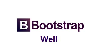 ایجاد well در Bootstrap