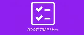 ایجاد لیست در Bootstrap