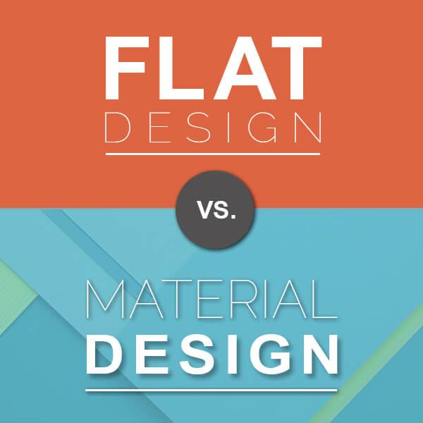 مقایسه متریال دیزاین و طراحی مسطح
