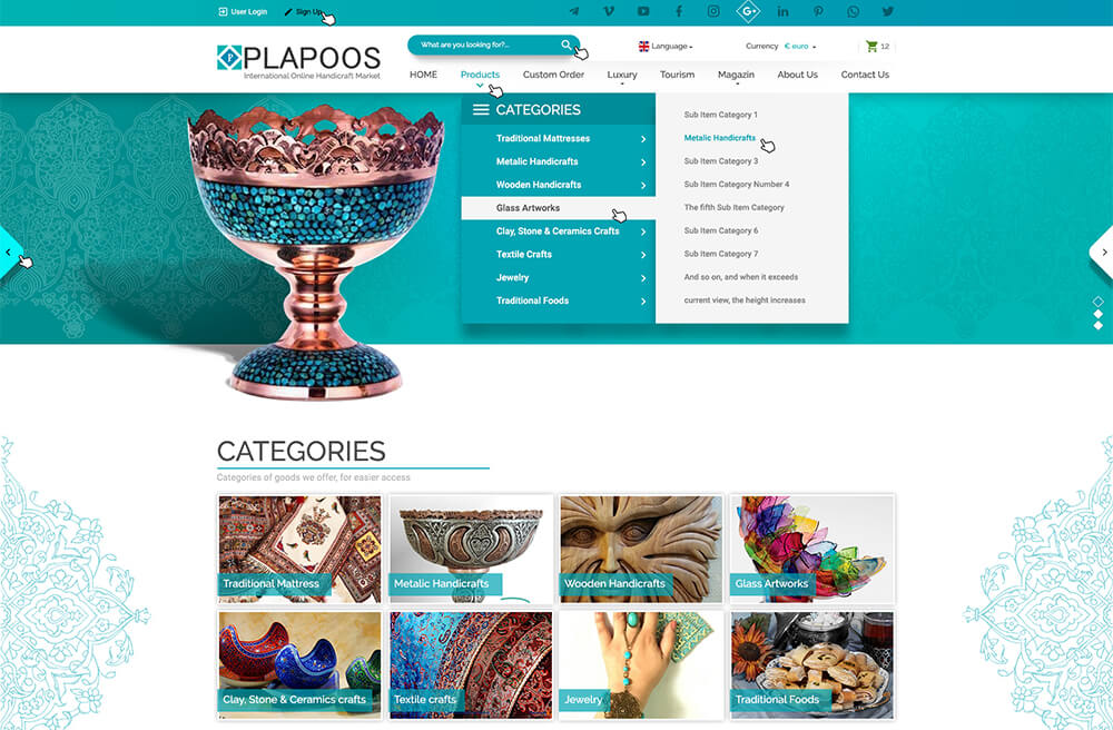 طراحی سایت شرکت پلاپوس