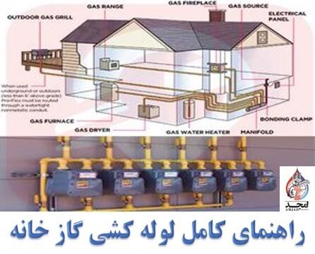 لوله کشی گاز خانگی،راهنمای کامل لوله کشی گاز خانه