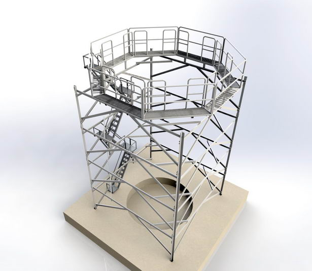 Design and 3D Modeling - Industrial structure in Solidworks