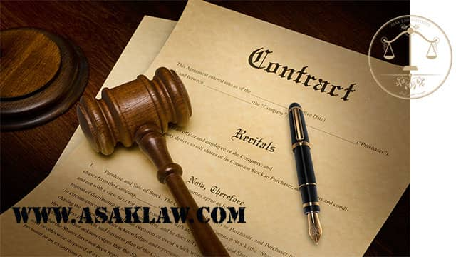 Terms of contract termination by the contractor
