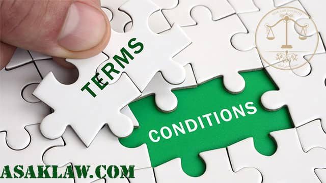 Terms and conditions of the contract