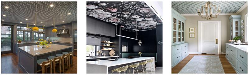 کاغذ دیواری سقف آشپزخانه