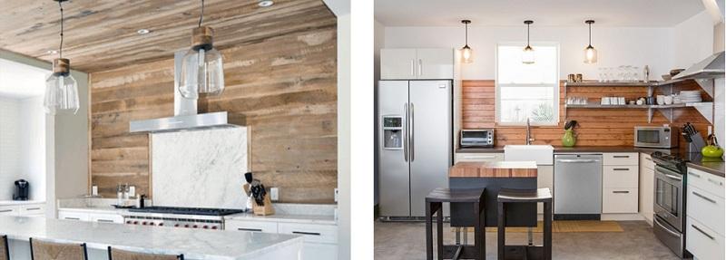کاغذ دیواری آشپزخانه طرح چوب