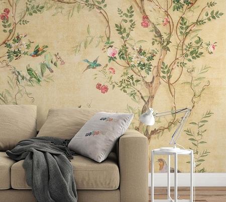 کاغذ دیواری گل های گرمسیری