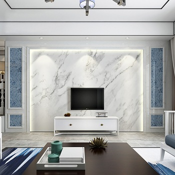 کاغذ دیواری مدرن پشت تلویزیون