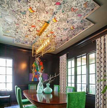 کاغذ دیواری سقف