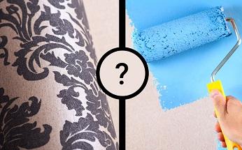 رنگ بهتر است یا کاغذ دیواری؟