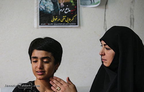 همسر و فرزند شهید محمدتقی ارغوانی