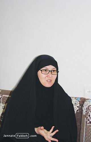 همسر شهید علیرضا توسلی (ابوحامد)