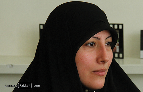 خانم فاطمه کاشانی همسر شهید مصطفی احمدی روشن
