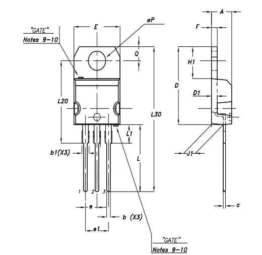 شمای فنی رگولاتور L7812 - TO200