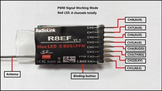 گیرنده 8 کانالیه رادیو کنترل