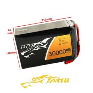 Tattu 22.2V 25C 30000mAh 6S1P Lipo Battery