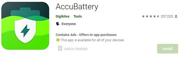 برنامه Accubattery جهت تست سلامت باتری موبایل