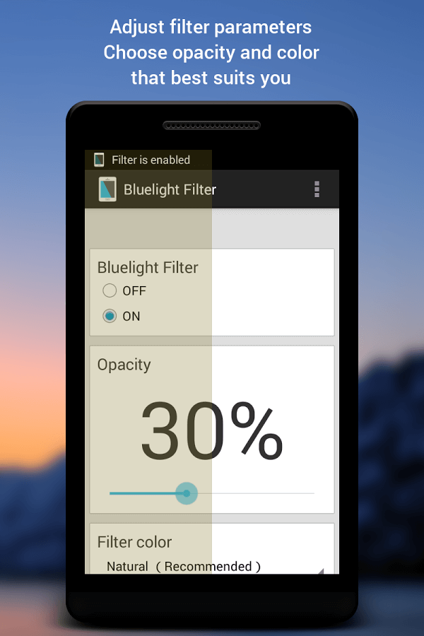 Bluelight filter