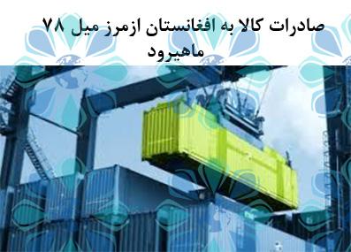 محدودیت صادرات کالا به افغانستان از مرز زمینی میل 78 ماهیرود – تهران پیشرو –شرکت ترخیص کالا