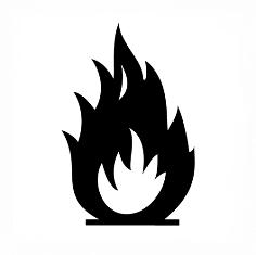 نماد اشتعال محصولات