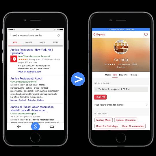 روسازی محتوا از برنامه های IOS در جستجوی گوگل