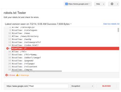 آزمایش فایلهای robots.txt ساده تر شد
