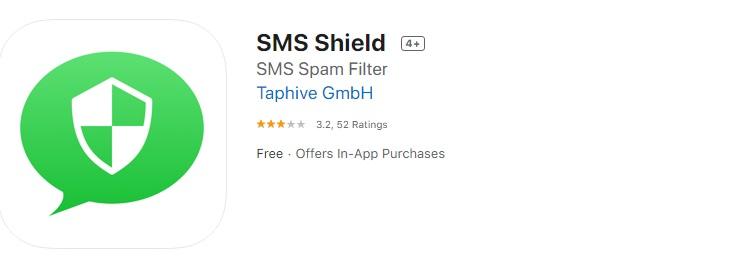 sms shield ابزار آپ استور برای فیلتر کردن اس ام اس های اسپم