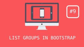 گروه های لیست در Bootstrap