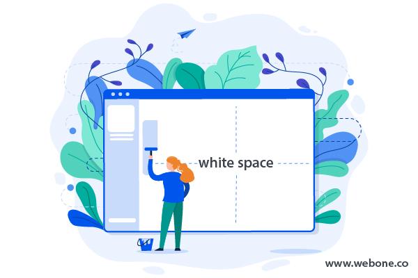 آشنایی با فضای خالی در طراحی سایت